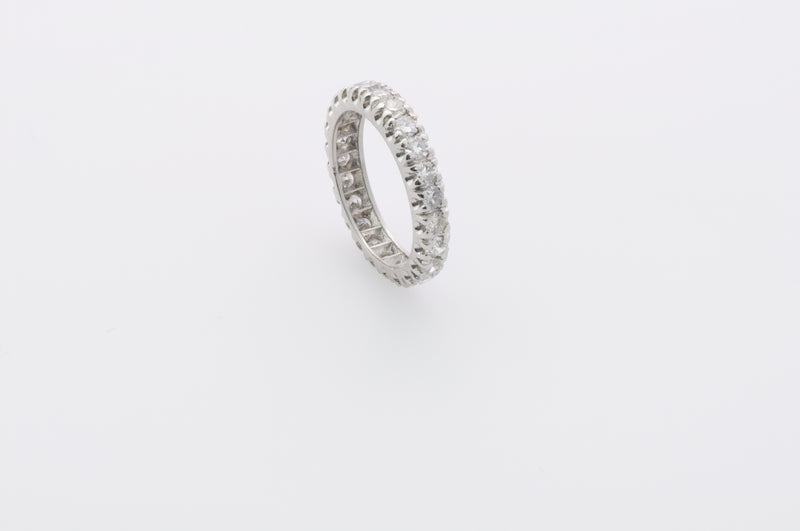 eternity platinum and diamond band