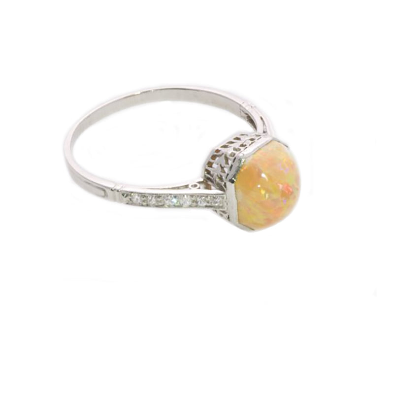 Opal Diamond Ring