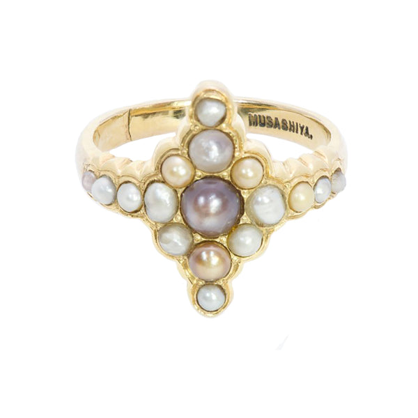 Musashiya Antique Pearl Gold Ring
