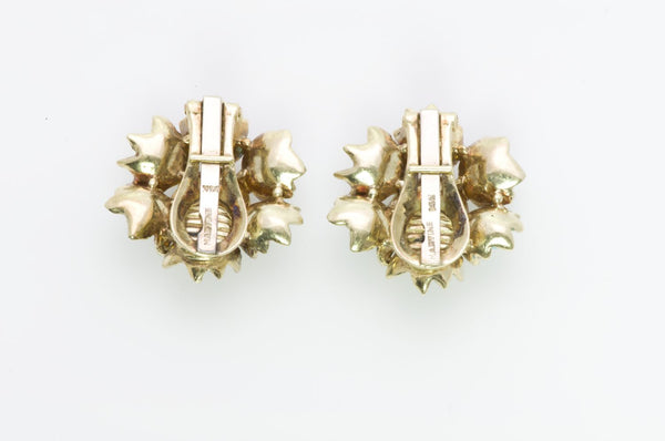 Martine Enamel Gold Flower Earrings