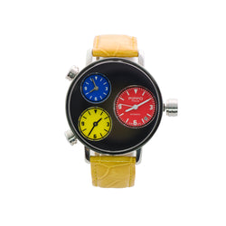 Pippo watch automatic 3 time zone Swiss made