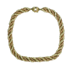 Vintage Rope Gold Necklace
