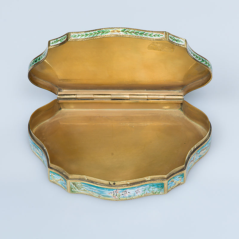 Gold enamel box