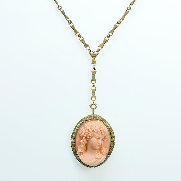 Antique Carved Coral Cameo