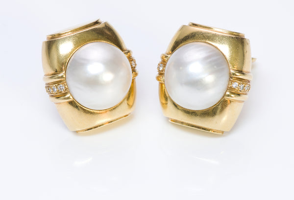 Andrew Clunn Gold Pearl Earrings