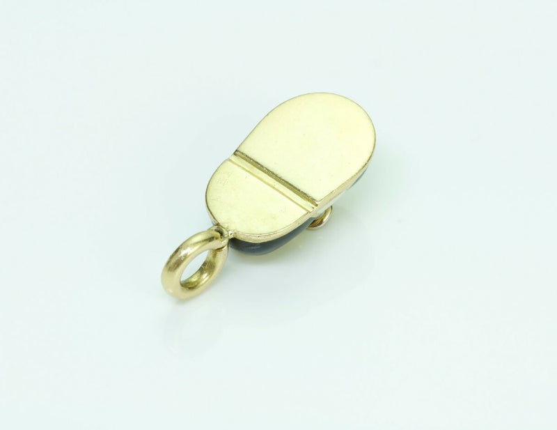 Aaron Basha 18K Yellow Gold Diamond Saddle Shoe Charm