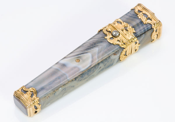 Early 19th Century Gold Agate Paste Etui