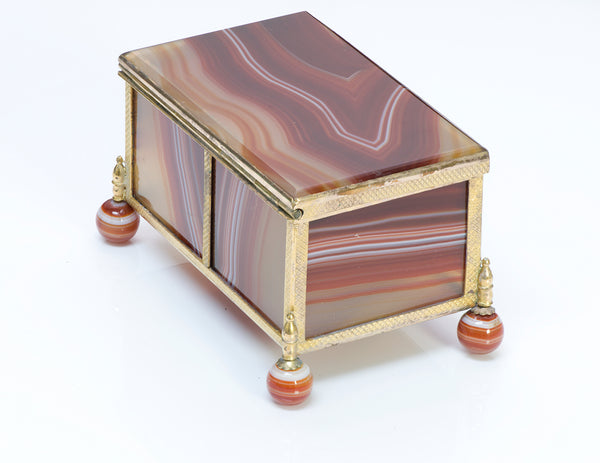 Banded Agate Box Antique
