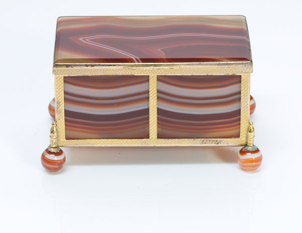 Antique Banded Agate Box
