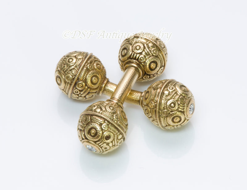 Alex Sepkus Diamond Gold Cufflinks