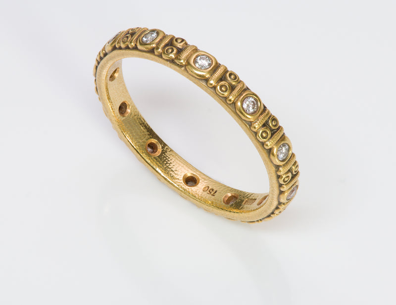 Alex Sepkus 18K Gold Diamond Circle Eternity Ring