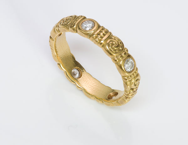 Alex Sepkus 18K Gold Diamond Ring