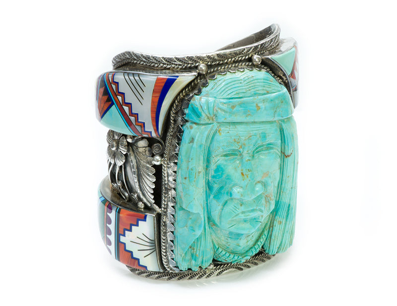 James Mason American Indian Turquoise Silver Cuff