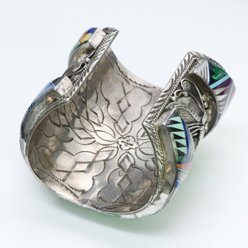 American Indian Turquoise Silver Bangle