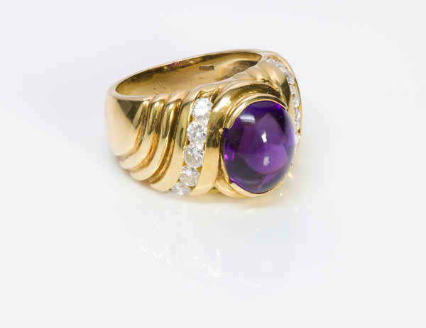 Amethyst Diamond 18K Gold Ring