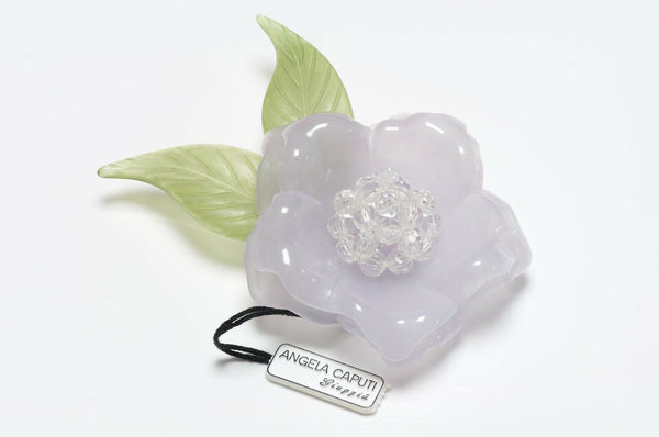 Angela Caputi Resin Camellia Flower Brooch