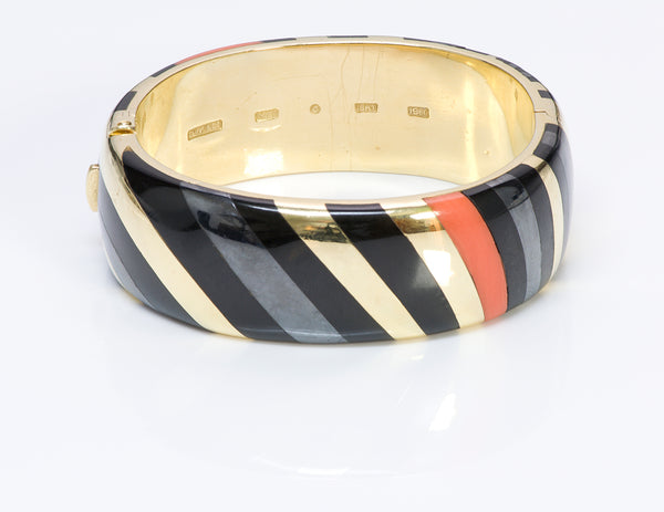 Angela Cummings Tiffany Co Gold Coral Hematite Onyx Bracelet
