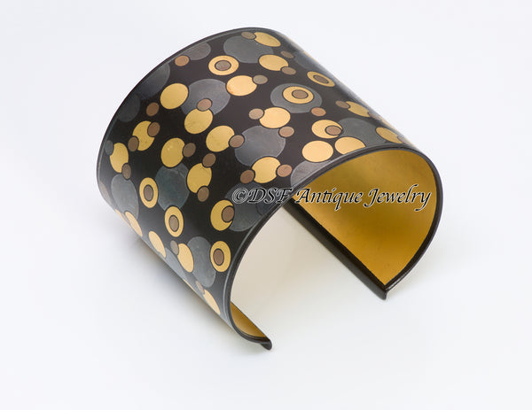 Tiffany Co Angela Cummings Iron Gold Damascene Bubble Cuff