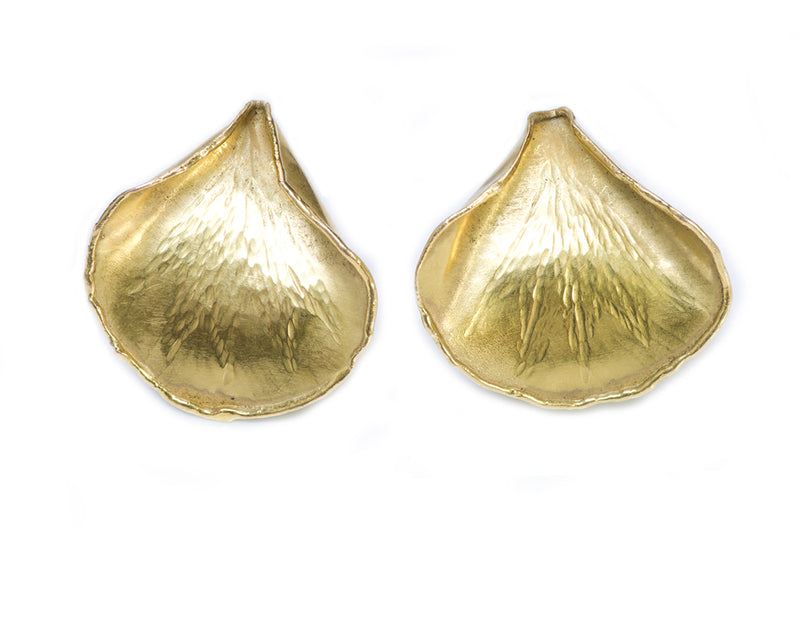 Tiffany & Co. Angela Cummings Gold Rose Petal Earrings