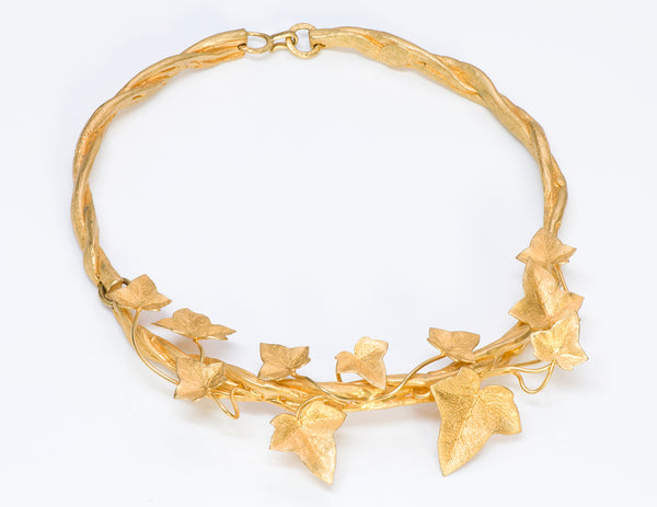 Annick Goutal Paris 1980's Folavril Tomato Leaf Necklace