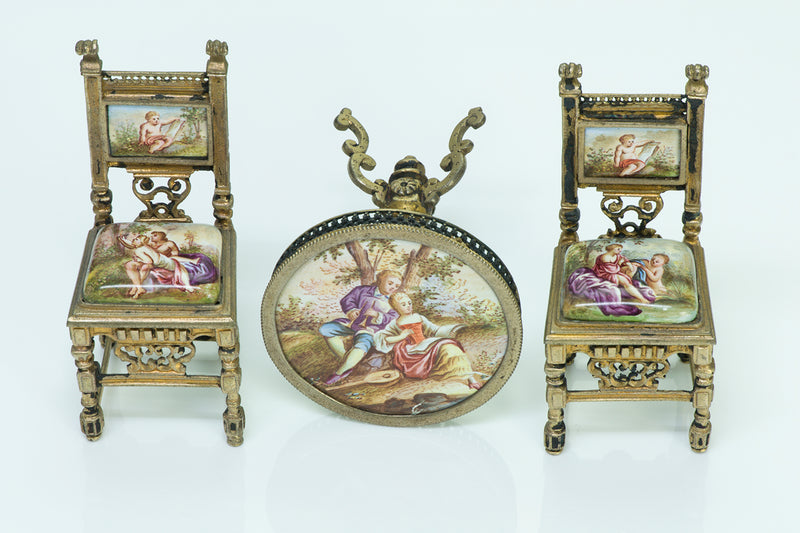 Antique Enamel Viennese Miniature