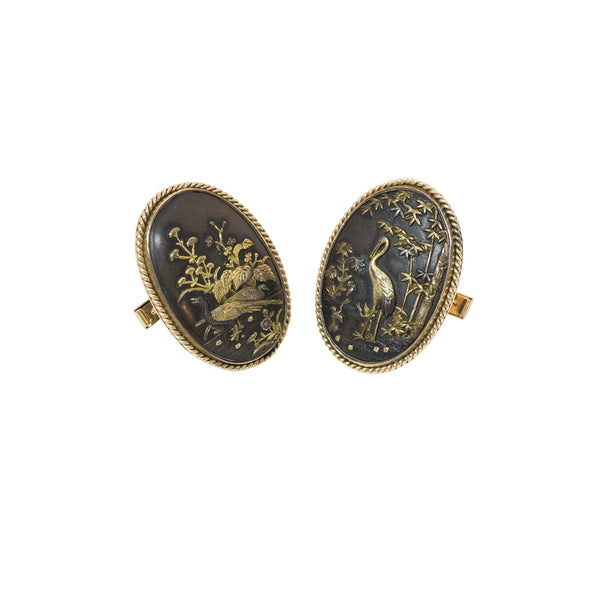 Antique Shakudo Cufflinks