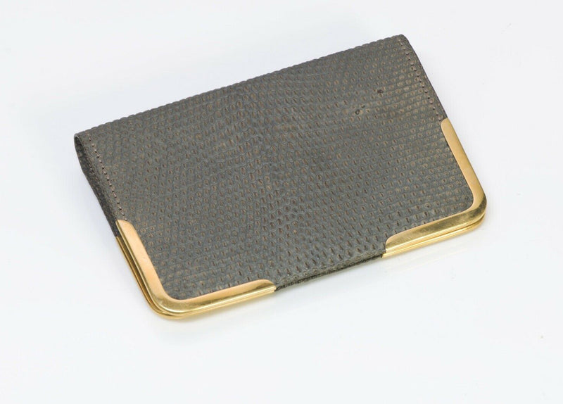 Antique Tiffany Co. Lizard 18K Gold Bifold Wallet