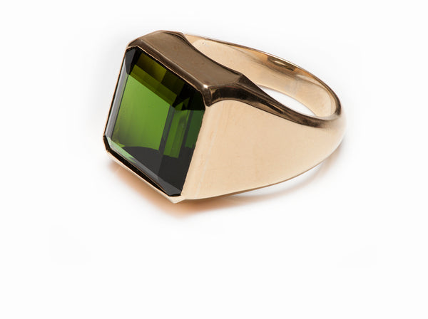 Ring Men's Gold Tourmaline