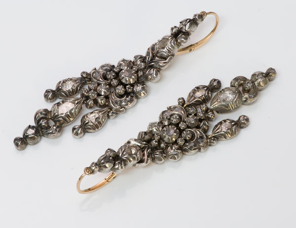 Antique Diamond Earrings 2