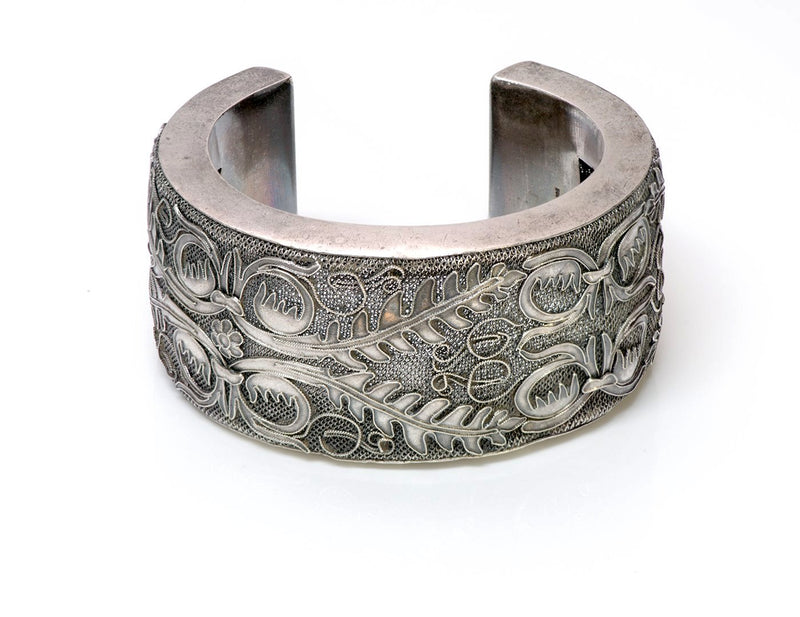 Antique Chinese Filigree Silver Cuff Bracelet