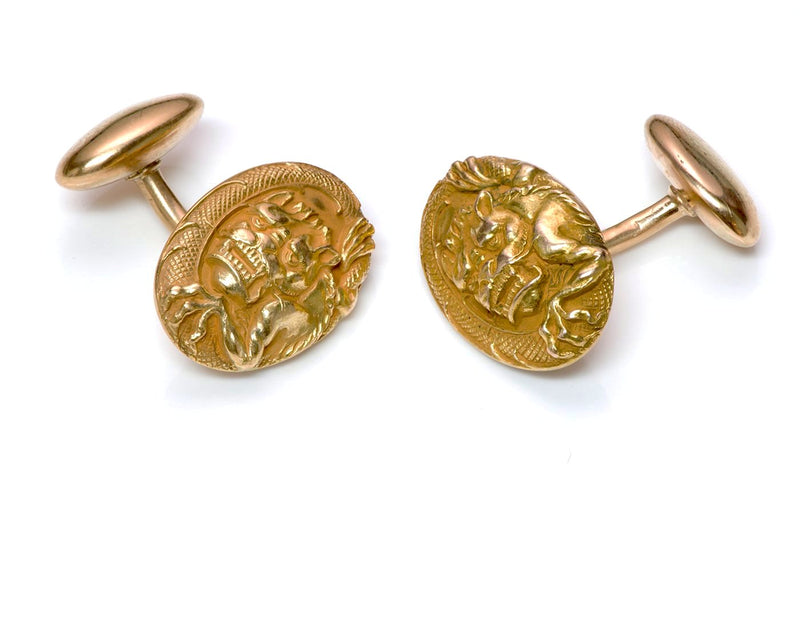 Antique Gold Dragon Cufflinks 4