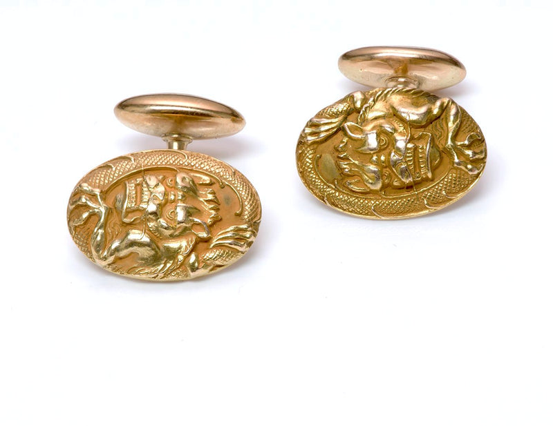 Antique Gold Dragon Cufflinks