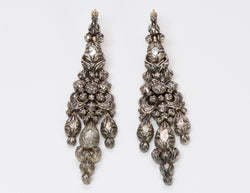 Antique Diamond Chandelier Earrings
