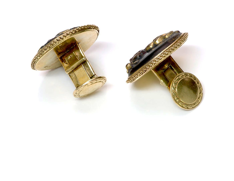 Antique Shakudo Gold Cufflinks 3