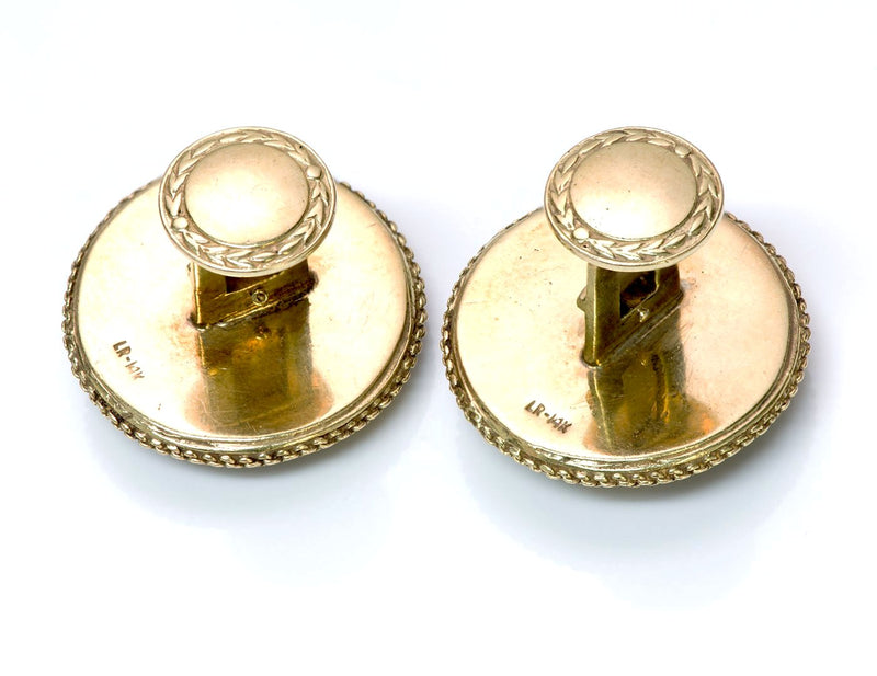 Antique Shakudo Gold Cufflinks 2