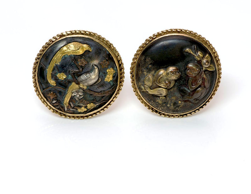 Antique Shakudo Gold Cufflinks