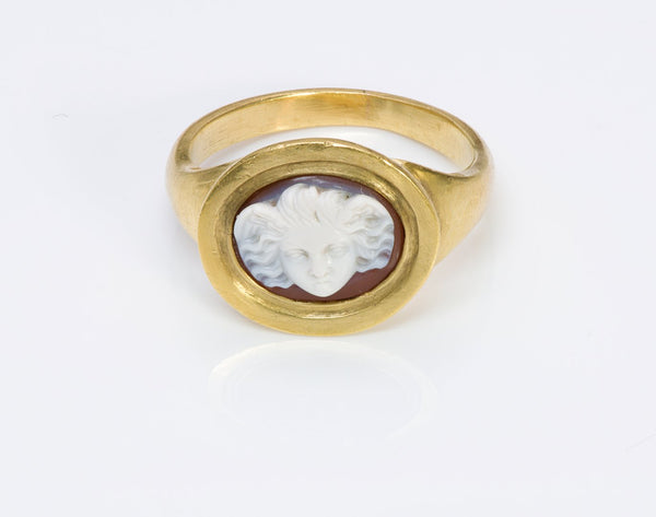 Early Cameo Antique Gold Ring
