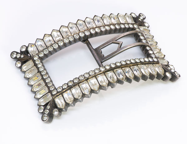 Antique French Silver Paste Buckle