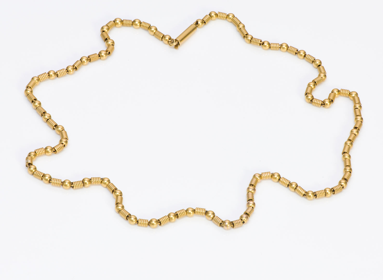 Antique Yellow Gold Bead Necklace