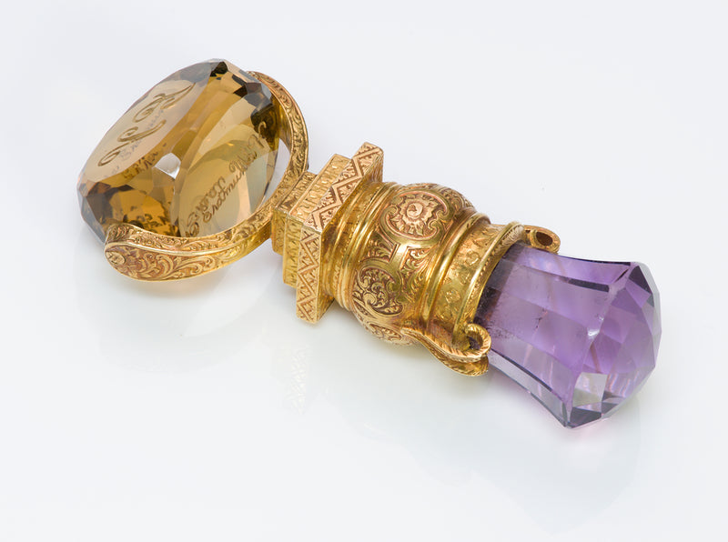 Antique Victorian Amethyst Gold Seal