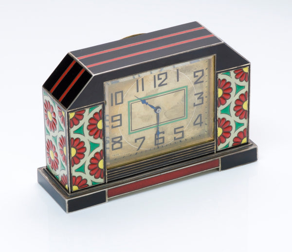 Art Deco Enamel Desk Clock