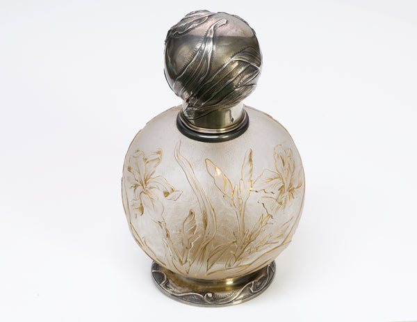 Art Nouveau French Silver Perfume Bottle1