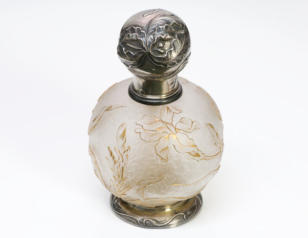 Art Nouveau French Silver Perfume Bottle