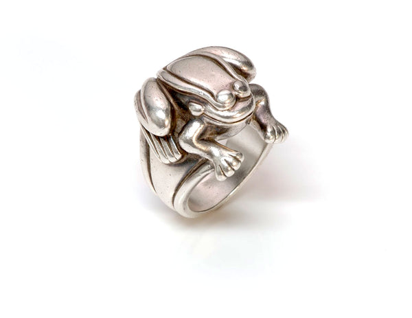 Barry Kieselstein-Cord Silver Frog Ring 1