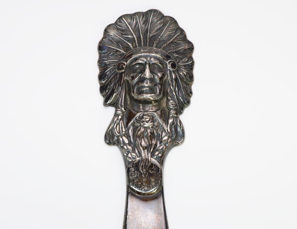 William B. Kerr Native American Silver Indian Chief Letter Opener