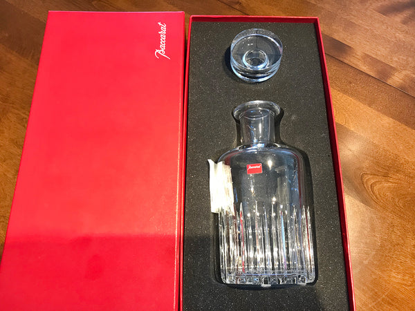 Baccarat Crystal Rotary Whiskey Decanter / Box