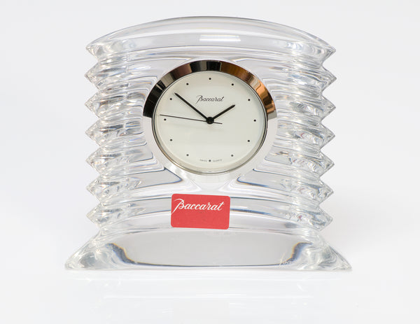 BACCARAT Lalande Crystal Desk Clock 2