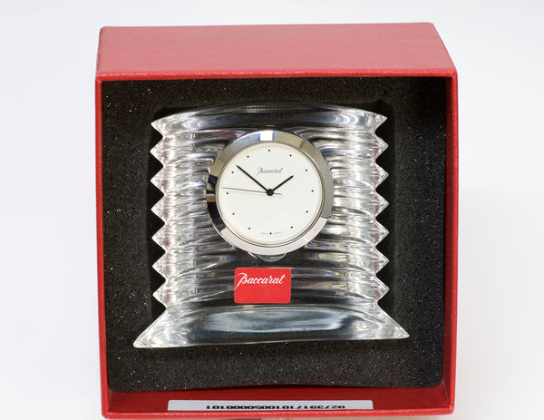 BACCARAT Lalande Crystal Desk Clock
