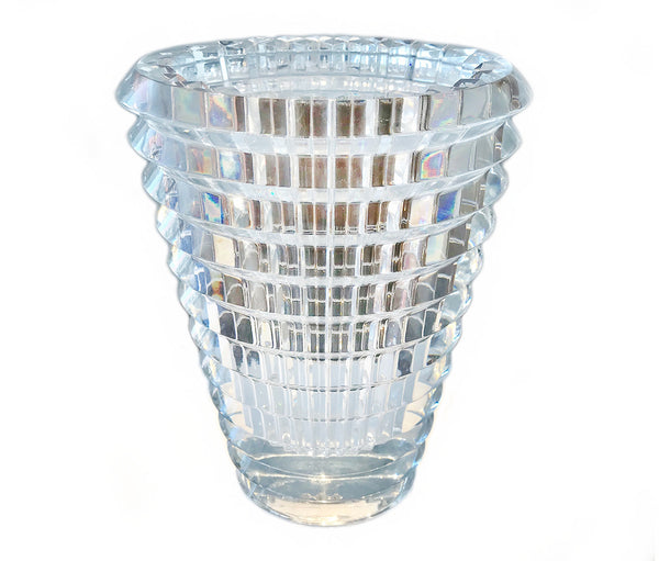 Baccarat Crystal Eye Oval Vase