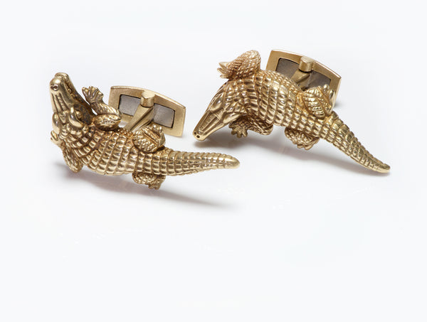 Cufflinks Barry Kieselstein-Cord Gold Alligator